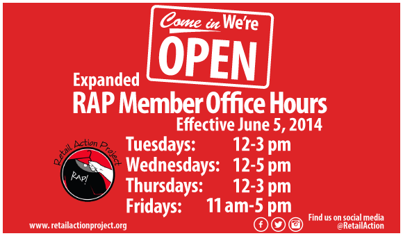 Check out RAP's expanded member office hours!